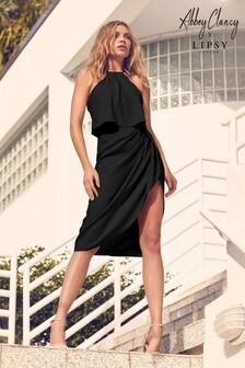 Abbey Clancy x Lipsy Satin Halter Midi Dress