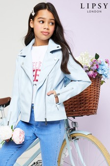 Lipsy Girl PU Biker Jacket