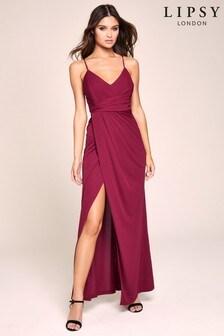 Lipsy Pleat Detail Cami Maxi Dress