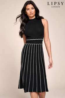 Lipsy 2-In-1 Pleated Knitted Dress