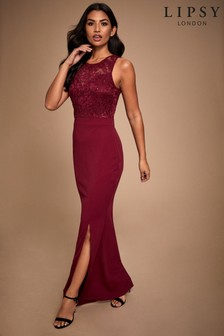 Lipsy Sequin Lace Top Maxi Dress