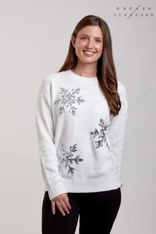 Broken Standard Fluffy Knit Jumper
