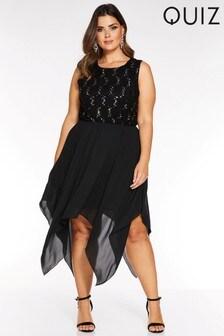Quiz Curve Embellished Dress