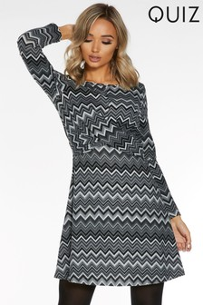 Quiz Light Knit Dress With Twist Front