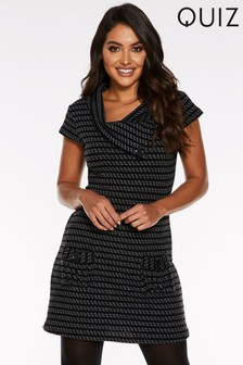 Quiz Knitted Tunic Dress With Pockets