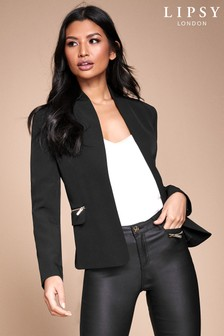 Lipsy Shawl Collar Zip Pocket Jacket