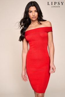 Lipsy Knitted Bardot Dress