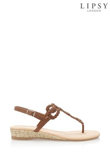 Lipsy Elevated Plaited Sandals