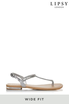 Lipsy Wide Fit Diamanté Flat Sandal