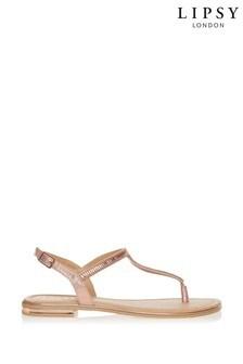 Lipsy Diamanté Flat Sandals
