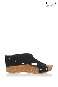 Lipsy Elasticated Mule Wedge