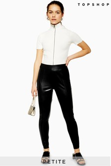 Topshop Petite Faux Leather Skinny Trousers