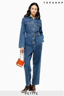 Topshop Petite Seattle Utility D Belt Boilersuit