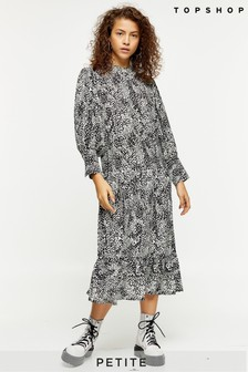 Topshop Petite Bell Sleeve Chuck On Midi Dress