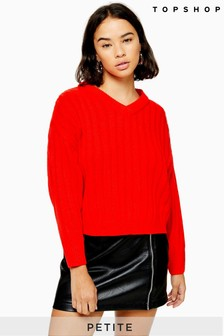Topshop Petite High Neck Jumper