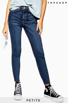 "Topshop Petite Raw Hem Jamie Jeans 28"" Leg"