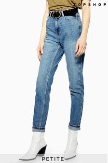 "Topshop Petite Mom Jeans 28"" Leg"