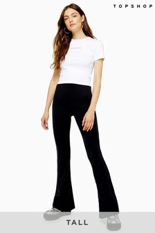 Topshop Tall Cupro Flare Trousers