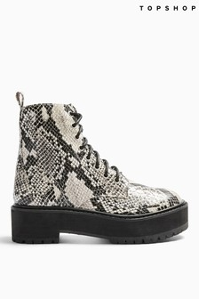 Topshop Brazen Chunky Lace-Up Boots