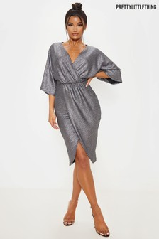 PrettyLittleThing Kimono Wrap Dress
