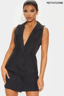 PrettyLittleThing Sleeveless Blazer Dress