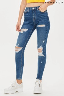 "Topshop Super Ripped Jamie Jeans 30"" Leg"