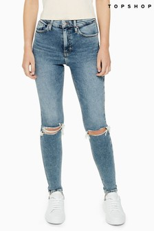 "Topshop Jamie Ripped Jeans 34"" Leg"