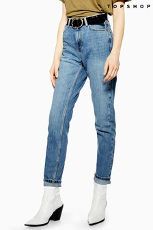 "Topshop Mom Jeans 34"" Leg"