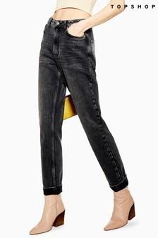 "Topshop Mom Jeans 32"" Leg"
