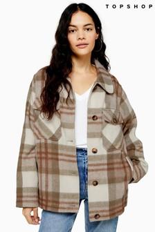 Topshop Check Wool Jacket