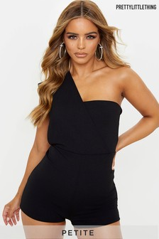 PrettyLittleThing Petite One Shoulder Playsuit