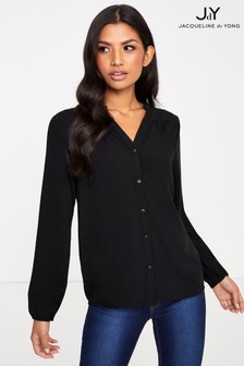 JDY V neck Half Button Blouse