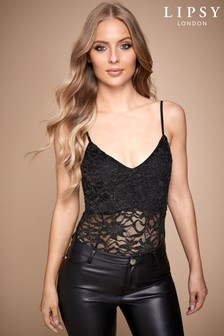 Lipsy Strapped Laced Bodysuit