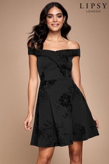 Lipsy Flock Bardot Skater Dress