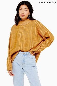Topshop Knitted Funnel Neck Jumper