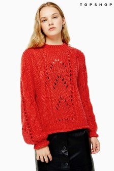 Topshop Knitted Lofty Jumper