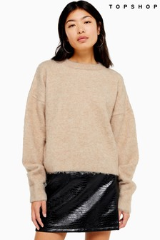Topshop Brushed Jumper
