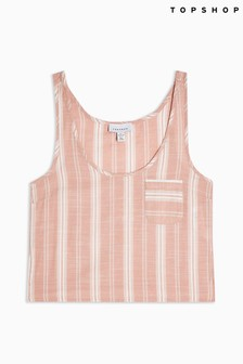 Topshop Side Stripe Pyjama Cami Top