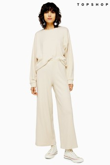 Topshop Loungewear Ribbed Trousers
