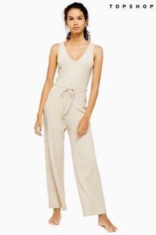 Topshop Loungewear Ribbed Jumpsuit