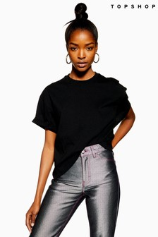 Topshop Boxy Roll Tee – Pack Of 2