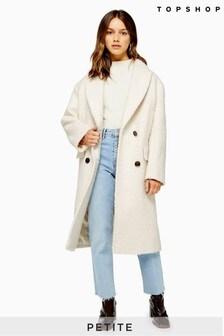 Topshop Petite Boucle Coat