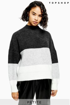 Topshop Petite Colour Block Jumper