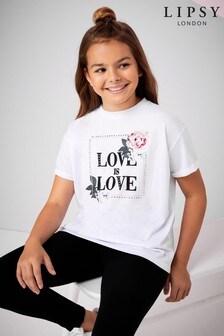 Lipsy Girl Embellished Love T-Shirt