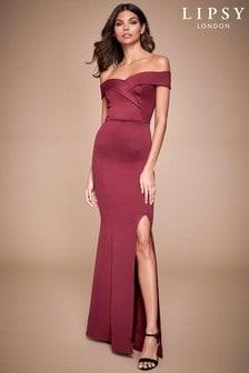 Lipsy Scuba Bardot Maxi Dress