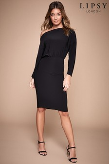 Lipsy Slash Neck Midi Dress