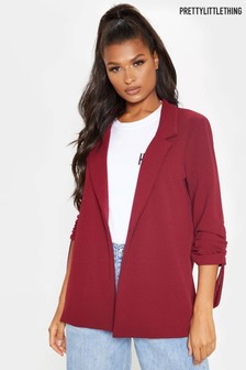 Pretty Little Thing Ruched Sleeve Blazer
