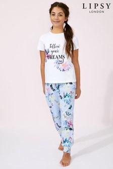 Dievčenská pyžamová súprava Lipsy s krátkymi rukávmi