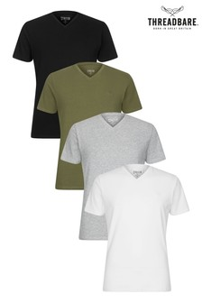 Threadbare V neck T-Shirt - Pack of 4