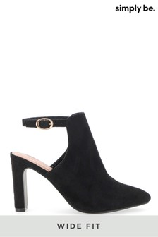 Simply Be Wide Fit Back Strap Shoe Boot